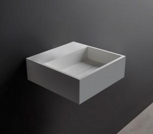 Ideavit Solidcube vægmonteret håndvask 30 x 30 cm Solid surface - Mat hvid