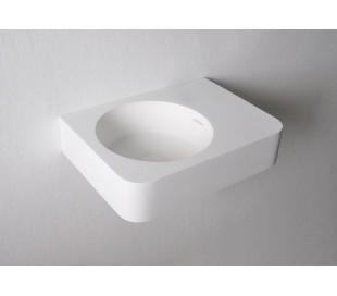 Ideavit Solidbrio vægmonteret håndvask 45 x 33 cm Solid surface - Mat hvid
