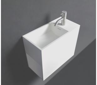 Ideavit Solidwash vægmonteret håndvask 45 x 22 cm Solid surface - Mat hvid