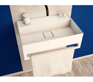 Ideavit Solidbliss vægmonteret håndvask 60 x 40 cm Solid surface - Mat hvid
