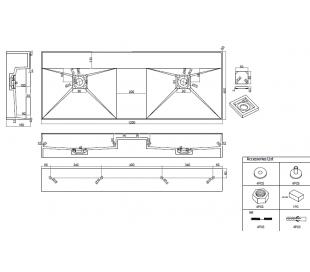 Ideavit Solidbliss vægmonteret håndvask 120 x 45 cm Solid surface - Mat hvid