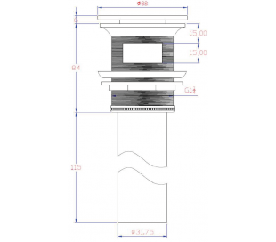 Ideavit Pop-Up Bundventil 284709 - Mat hvid