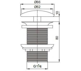 Ideavit Pop-Up Bundventil 290270 - Mat sort