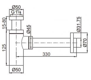 Ideavit Afløb 290305 - Mat sort