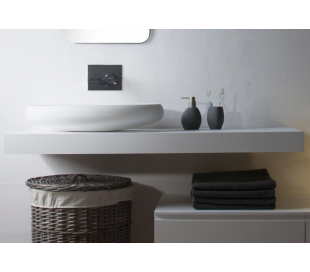 Ideavit Solidplus hylde til håndvask 120 x 46 cm Solid surface - Mat hvid