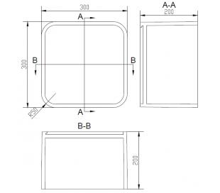 Ideavit Solidtondo hylde 30 x 30 cm Solid surface - Mat hvid