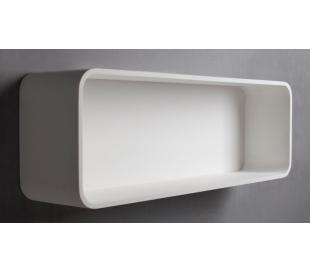 Ideavit Solidtondo hylde 90 x 30 cm Solid surface - Mat hvid
