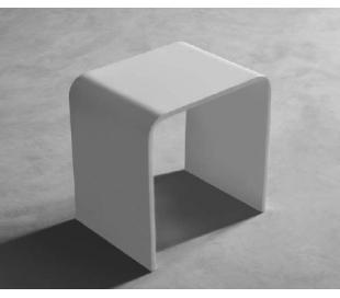 Ideavit Solidtondo bænk 40 x 30 cm Solid surface - Mat hvid
