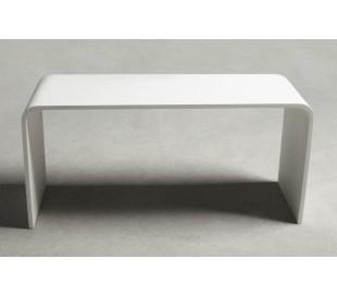 Ideavit Solidtondo bænk 90 x 30 cm Solid surface - Mat hvid