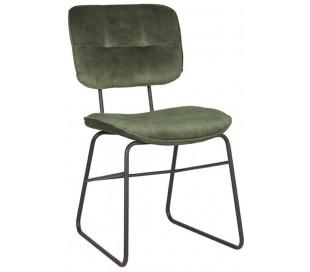 Spisebordsstol i velour og metal H87 cm - Grøn