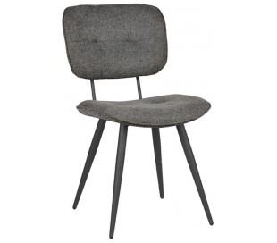 Spisebordsstol i polyester og metal H87 cm - Antracit