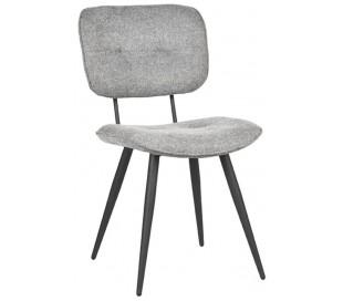Spisebordsstol i polyester og metal H87 cm - Grå