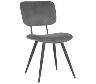 Spisebordsstol i ripcurl og metal H87 cm - Mørkegrå