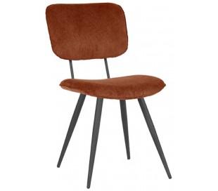 Spisebordsstol i ripcurl og metal H87 cm - Rust