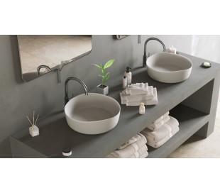 Ideavit Solidharmony bordmonteret håndvask Ø40 cm Solid surface - Mat hvid