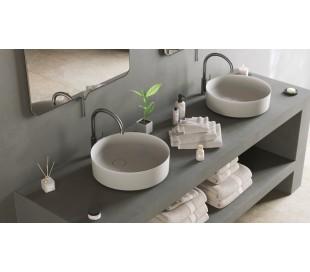 Ideavit Solidfloat-40 bordmonteret håndvask Ø40 cm Solid surface - Mat hvid