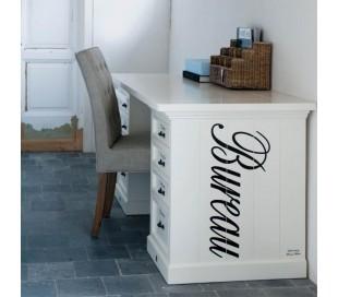 Skrivebord i træ 150 x 70 cm - Antik hvid