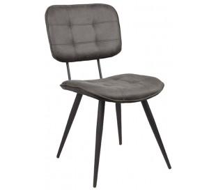 Spisebordsstol i microfiber og metal H87 cm - Antracit