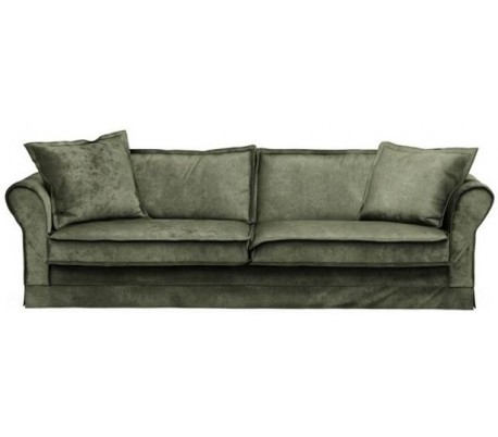 Carlton 3,5 personers sofa i velour B255 cm – Efeu