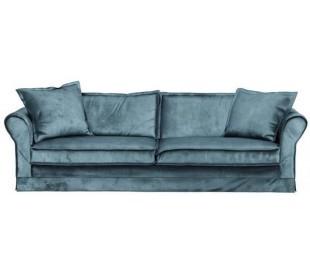 Carlton 3,5 personers sofa i velour B255 cm - Petrolium