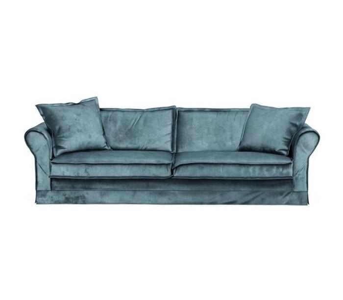 Carlton 3,5 personers sofa i velour B255 cm – Petrolium