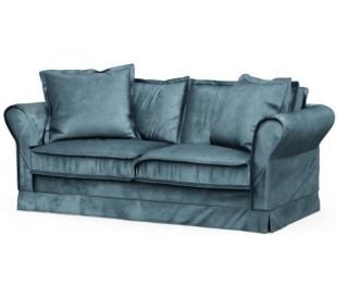 Carlton 2,5 personers sofa i velour B181 cm - Petrolium