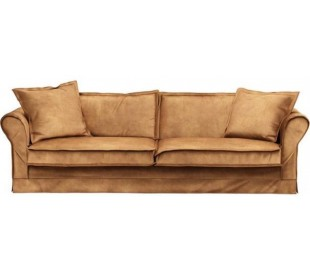 Carlton 3,5 personers sofa i velour B255 cm - Cognac