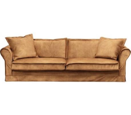 Carlton 3,5 personers sofa i velour B255 cm – Cognac