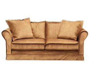Carlton 2,5 personers sofa i velour B181 cm - Cognac