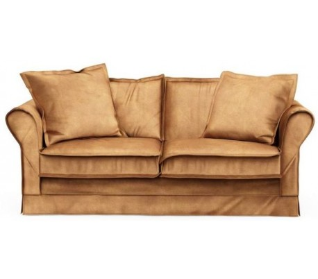 Carlton 2,5 personers sofa i velour B181 cm – Cognac
