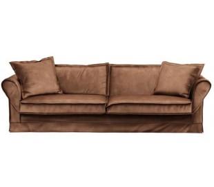 Carlton 3,5 personers sofa i velour B255 cm - Chokolade