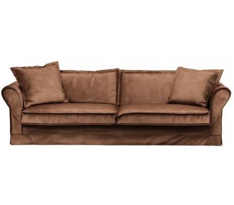 Carlton 3,5 personers sofa i velour B255 cm – Chokolade