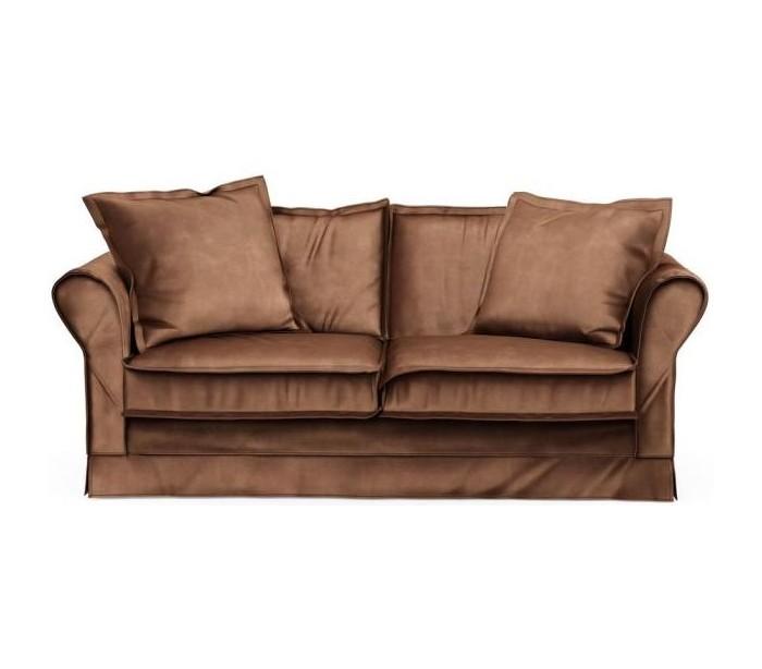Carlton 2,5 personers sofa i velour B181 cm – Chokolade