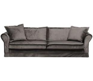 Carlton 3,5 personers sofa i velour B255 cm - Grå