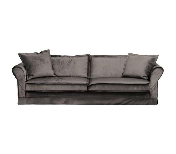 Carlton 3,5 personers sofa i velour B255 cm – Grå