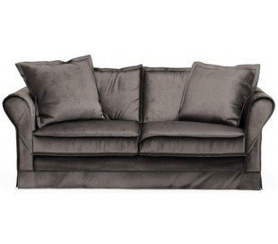 Carlton 2,5 personers sofa i velour B181 cm - Grå