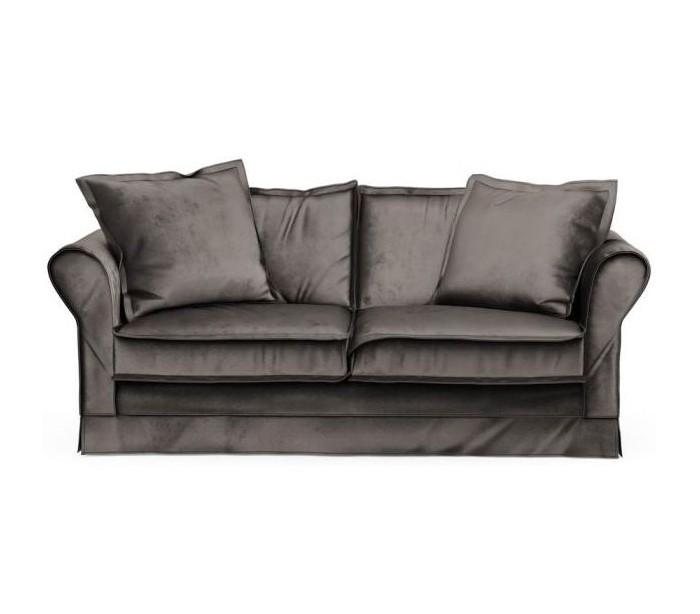Carlton 2,5 personers sofa i velour B181 cm – Grå