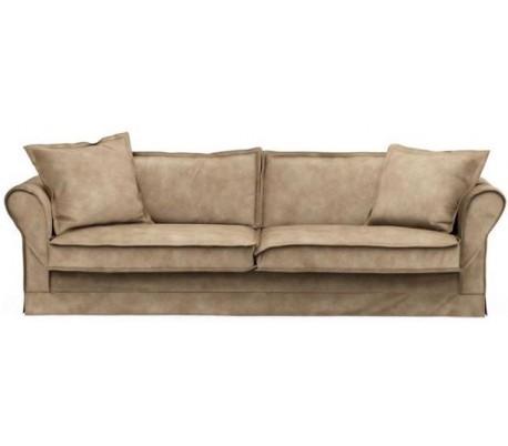 Carlton 3,5 personers sofa i velour B255 cm – Gylden beige
