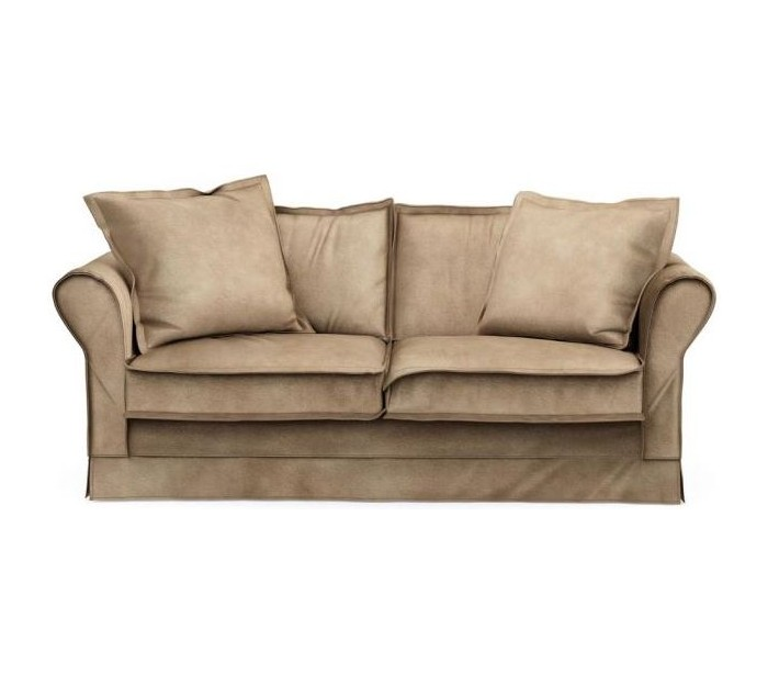 Carlton 2,5 personers sofa i velour B181 cm – Gylden beige