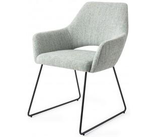 2 x Yanai Spisebordsstole H83,5 cm polyester - Sort/Sage grøn