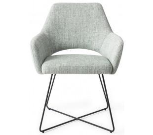 2 x Yanai Spisebordsstole H85 cm polyester - Sort/Sage grøn