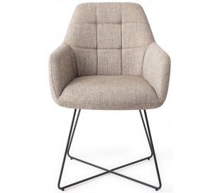 2 x Noto Spisebordsstole H84,5 cm polyester - Sort/Sandgrå