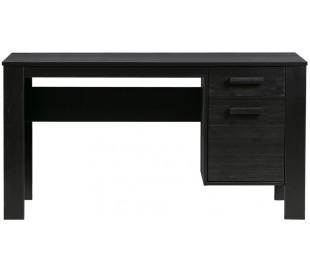 Skrivebord i fyrretræ H74 x B141 x D59 cm - Sort