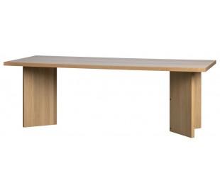 Spisebord i egetræsfinér 220 x 90 cm - Natur