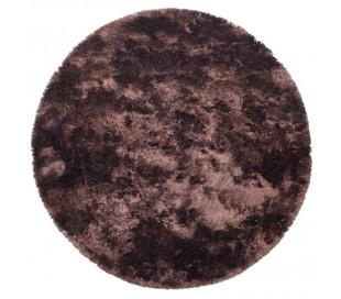 Praline rundt tæppe i polyester Ø200 cm - Kaffe