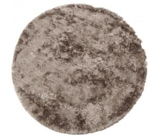 Praline rundt tæppe i polyester Ø200 cm - Nougat