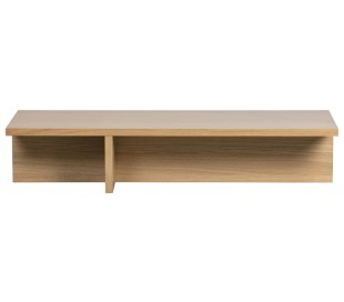 Sofabord i egetræsfinér 135 x 49 cm - Eg