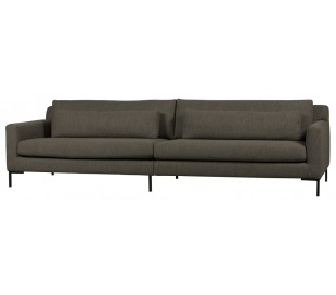 Hang Out 4-personers sofa i polyester B282 cm - Brun