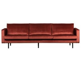 3-personers sofa i velour B277 cm - Kastanje