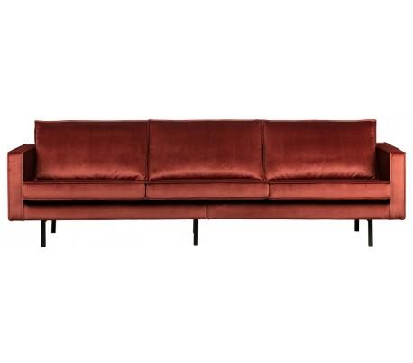 3-personers sofa i velour B277 cm – Kastanje